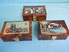 Egyptian Leather Jewelry Box with tray - Organizer