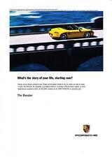 """2003 Porsche Boxster Convertible photo """"Re-sculpted Exterior"""" promo print ad"""