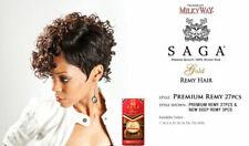 PREMIUM 27PCS SAGA GOLD 100% HUMAN REMY HAIR WEAVE EXTENSION WITH FREE CAP SET