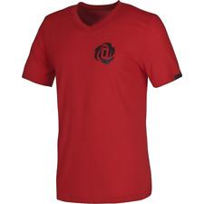 adidas Derrick Rose V-Neck Mens T-Shirt Tee summer shortsleeve red W66503 SALE