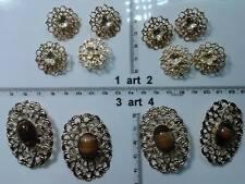 1 lotto bottoni gioiello smalti pietre vetro murrine buttons boutons vintage g3