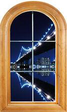 Sticker fenêtre vouté trompe l'oeil déco New York réf 633