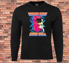 JB's Long Sleeve T-shirt Insert Coin Game Over Retro Arcade Gamer Design