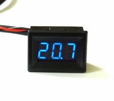 Mini LED Thermometer -20°+110°C klein hell 12V/24V Temperaturanzeige Einbau NTC
