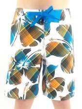 O'Neill Boardshort Badeshort Bigflowercheck weiß blau Schnürung Blumen