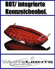 Mini Fanale posteriore LED/Fanale ROSSO ovale Streetfighter/Moto Custom/Cruiser