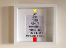 IKEA RIBBA Cornice Di Vinile Personalizzato Wall Art Albero di Natale preventivo Word