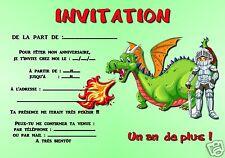 5 o 12 biglietti invito compleanno DINOSAURO ref 304