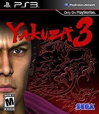 Yakuza 3 (Sony PlayStation 3, 2010)MINT Rare Cib