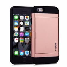 ROSE GOLD iPhone Samsung Slide Wallet Case Credit Card Hidden Pocket CS + GLASS