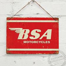 BSA Motorcycles Logo Vintage Metal Wall sign RetroMancave Shed Garage Cafe Racer