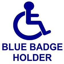 Blue Badge Holder disabilitato auto, van sticker-disability mobilità Logo Firmare, Paraurti