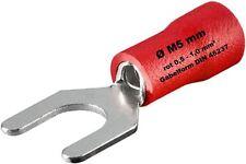 fourche Cosses de câble Rouge 0,5 -1 mm² M5 ø 5mm SERTIR FORME DE FOURCHE