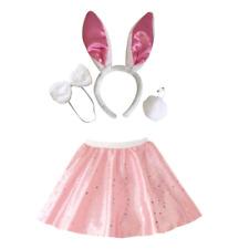 Onorevoli raso rosa gon na coniglio bunny Halloween Costume Fancy Dress Accessorio Set
