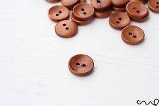 15mm 24L petit rond marron boutons en bois 2 trous couture embellissement craft tva
