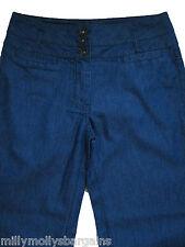 New Womens Blue NEXT Trousers Size 10 Regular