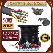 5 Core Wire Trailer Cable Power Cable Automotive Boat Caravan Truck Coil V90 PVC