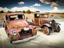 -Oldtimer Automobil Classic Kinderzimmer 900V VLIES Fototapete-RED BEETLE BUS-