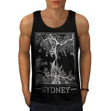 Australie Sydney Carte Hommes Tank Top New   wellcoda