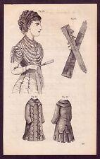 1800's Old Vintage Ladies Victorian Fashion Costume Decor Art PRINT [#18]
