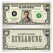 Geburtstagseinladungen als Dollarschein - Einladungskarten zum Geburtstag