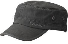 e1c58d1c Stetson Army Cap Datto 1 Black Sun Guard Coated Cotton