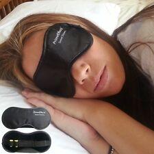 NEW Sleep Mask Sweet Dreams Black Small-Large | Soft Durable Velvet Travel