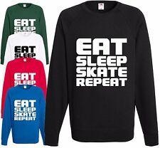 EAT Sleep skate ripetere Felpa Skateboard inline rollerblade bmx Maglione REGALO