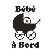* 1 Sticker Bébé à Bord * Modèle Landau *