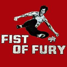 Arti marziali Kung Fu karatè Kickboxen Film maglietta Palestra 2082 rosso
