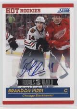2010 Score Rookies & Traded Signatures Autographed #651 Brandon Pirri Auto Card