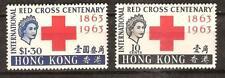 HONG KONG # 219-20 Mint RED CROSS CENTENARY