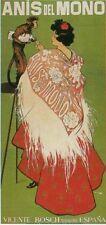 ANIS del MONO. Monkey Serving Liquor. Vintage Advertisement Poster Reproduction