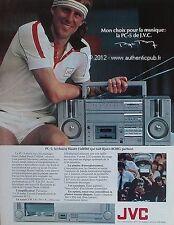 PUBLICITE JVC LA PC-5 CHAINE HI-FI PLATINE BJORN BORG DE 1983 FRENCH AD