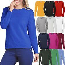 Gildan Ladies Long Sleeve T-Shirt Heavy Cotton MISSY FIT Womens S-XL 2X 3X NEW