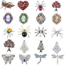 Multi-Style Silver Animal Flower Rhinestone Jewelry Pin Brooch Xmas Wedding Gift