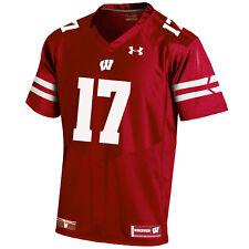 Wisconsin Under Armour HG ROUGE SUR TERRAIN LIGNE DE TOUCHE maillot de football