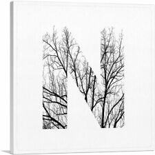 ARTCANVAS Tree Branches Alphabet Letter N Canvas Art Print