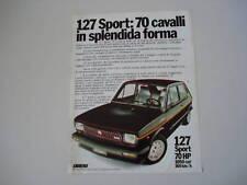 advertising Pubblicità 1978 FIAT 127 SPORT