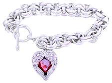 Art Deco vintage retro style heart angel wings bracelet