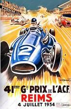 Vintage grand prix reims publicité Poster Reproduction