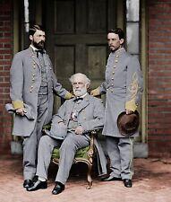 General Lee Robert Custis Confederate CSA Color Tinted photo Civil War 03114