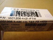 10K RCD  Chip Resistor MC1206-4421 FTW 4.42K 1%