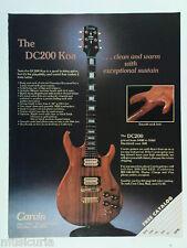 retro magazine advert 1982 CARVIN dc200 koa