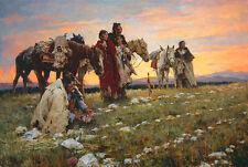 Howard Terpning JOURNEY TO THE MEDICINE WHEEL, Native American, Wyoming #44/85