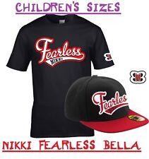 NIKKI 'FEARLESS' BELLA  WRESTLING WRESTLER KIDS CHILDS T SHIRT CAP FANCY DRESS