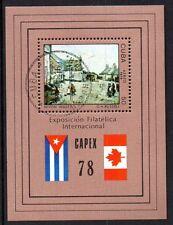 Cuuba 1978 Stamp exhibition Capex / painting Mi. Block 54 FU