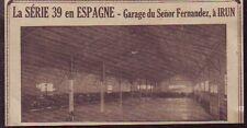 1930  --  GARAGE DU SENOR FERNANDEZ A IRUN  R392