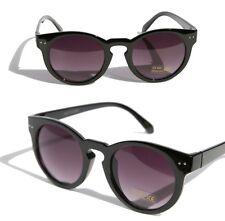Key hole Round Wayfare Vintage Designer Inspired Sunglasses p3 Gloss black
