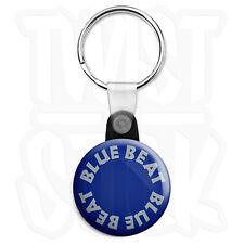 Blue Beat Logo - 25mm Skinhead, Ska Reggae Keyring Button Badge, Zip Pull Option